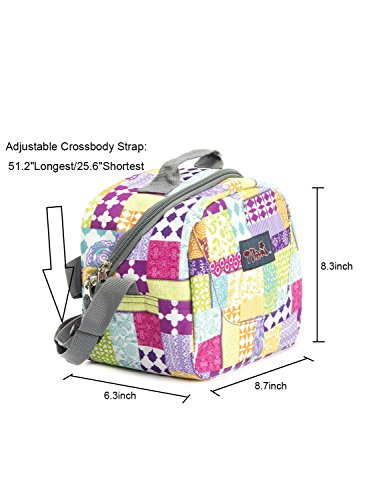 Tilami® New Antifouling Design 18 Inch Wheeled Rolling Backpack Luggage & Lunch Bag (pink check) - Tilamibag