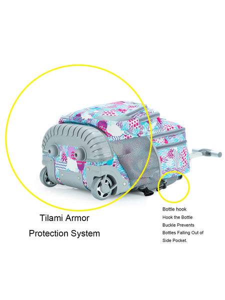 Tilami New Antifouling Design 18 Inch Oversized Load Wheeled Rolling Backpack Luggage for Kids Rainy Day - Tilamibag