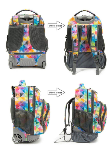 Tilami Girl 18 Inch Rolling Backpack Luggage & Lunch Bag For School and Travel - Tilamibag