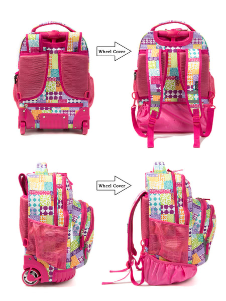 Rolling Backpack Armor Luggage School Travel Book Laptop 18 Inch Multifunction Wheeled Backpack - Tilamibag