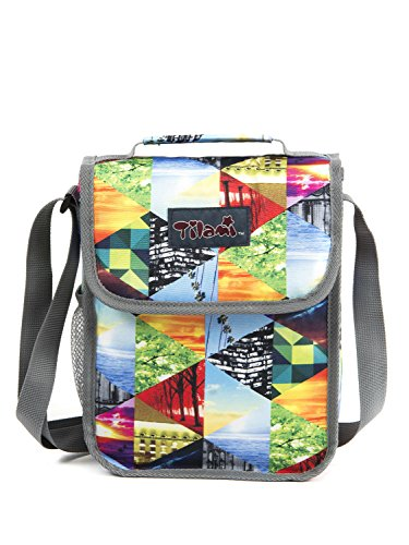 Tilami New Antifouling Design 18 Inch Wheeled Rolling Backpack Luggage and Lunch Bag (Geometric 3)) … - Tilamibag