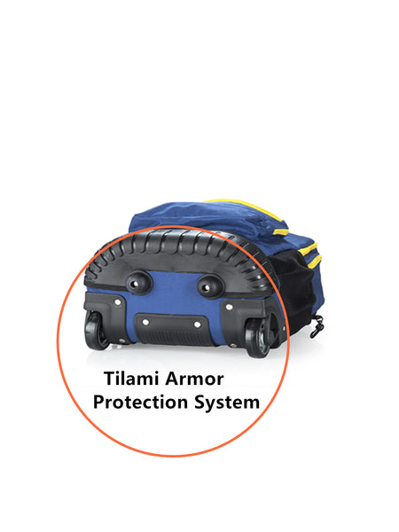 Tilami Boy Rolling Backpack 18 Inch for School Travel Bule - Tilamibag