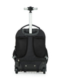 Tilami New Antifouling Design 18 Inch Oversized load multi-compartment Wheeled Rolling Backpack Luggage for Kids (New Black 2) - Tilamibag