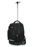 Tilami Black Boy 18 Inch Oversized load multi-compartment Wheeled Rolling Backpack Luggage for Kids (New Black 1) - Tilamibag