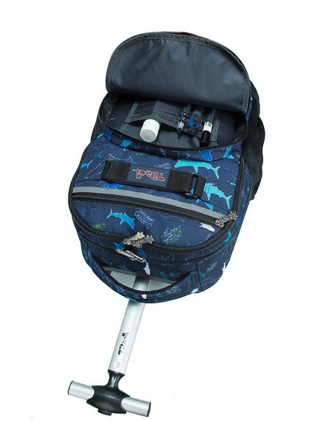 Tilami Shark Rolling Backpack Rolling Backpack 18 Inch For School and Travel - Tilamibag