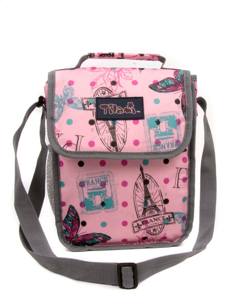 Tilami18 Inch Wheeled Rolling Backpack Luggage& Lunch Bag Set Pink Butterfly - Tilamibag