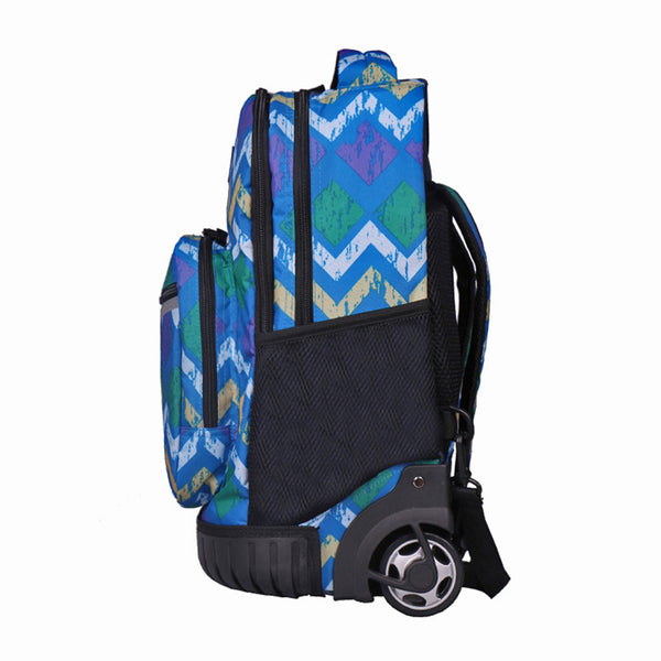 Tilami New Antifouling Design 18 Inch Wheeled Rolling Backpack Luggage & Lunch Bag (Deep Sea1) … - Tilamibag