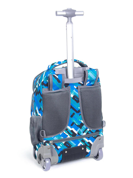 Tilami18 Inch Wheeled Rolling Backpack Luggage& Lunch Bag Set Cavas Bule - Tilamibag