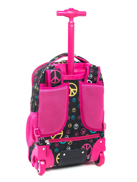 Tilami18 Inch Wheeled Rolling Backpack Luggage& Lunch Bag Set Pink Pilot - Tilamibag