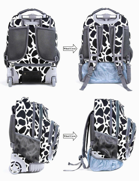 Tilami Rolling Backpack Armor Luggage School Travel Book Laptop 18 Inch Multifunction Wheeled Backpack - Tilamibag