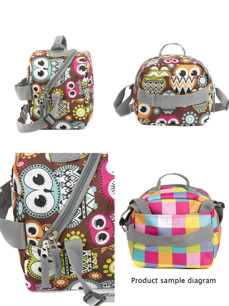 Tilami Insulated Picnic Bag Cooler Bag for School, Camping, Beach, Travel, Car Trip,Big Eyes Owl 1 - Tilamibag