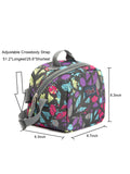 Tilami Insulated Picnic Bag Cooler Bag for School, Camping, Beach, Travel, Car Trip,Ice black world 1 - Tilamibag