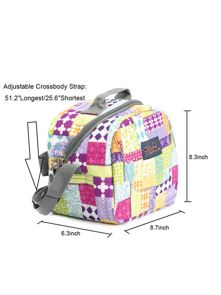 Tilami  Insulated Picnic Bag Cooler Bag for School, Camping, Beach, Travel, Car Trip,Pastoral style 1 - Tilamibag
