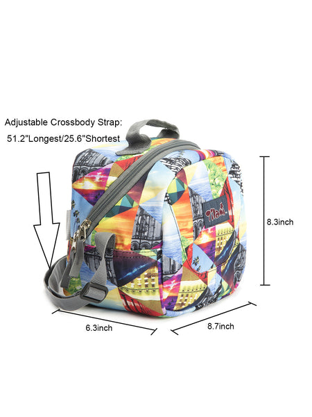 Tilami Insulated Picnic Bag Cooler Bag for School, Camping, Beach, Travel, Car Trip,Sunset puzzle 1 - Tilamibag
