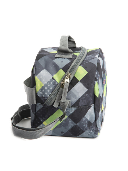 Tilami Insulated Picnic Bag Cooler Bag for School, Camping, Beach, Travel, Car Trip,Dark grid series 1 - Tilamibag