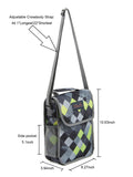 Tilami  Insulated Picnic Bag Cooler Bag for School, Camping, Beach, Travel, Car Trip,Dark grid series 2 - Tilamibag