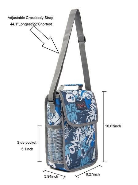 Tilami Insulated Picnic Bag Cooler Bag for School, Camping, Beach, Travel, Car Trip,Blue Arrow 2 - Tilamibag