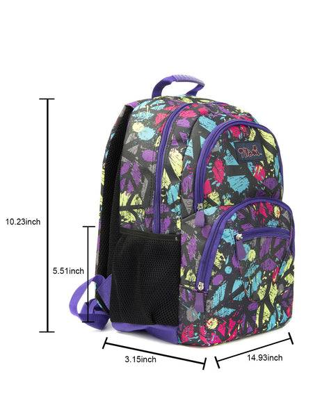 Tilami Students Backpack 17 Inch School Bag Children Bookbags Laptop Bag,Ice black world - Tilamibag