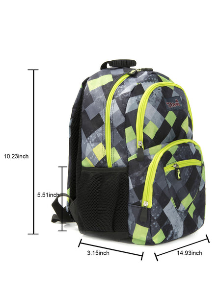 Tilami Students Backpack 17 Inch School Bag Children Bookbags Laptop Bag,Dark grid series - Tilamibag
