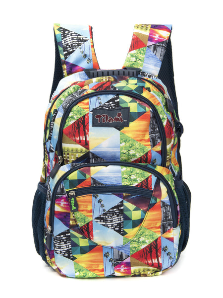 Tilami Students Backpack 17 Inch School Bag Children Bookbags Laptop Bag,Sunset puzzle - Tilamibag