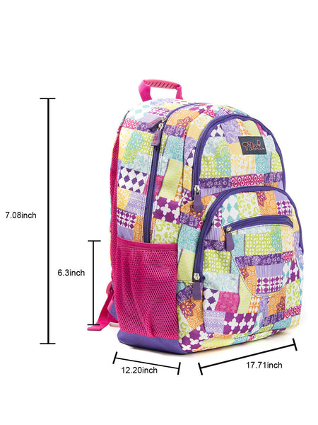 Tilami Backpack Laptop Bag 14 Inch School Bag Children Bookbags Laptop Bag,Dark grid - Tilamibag