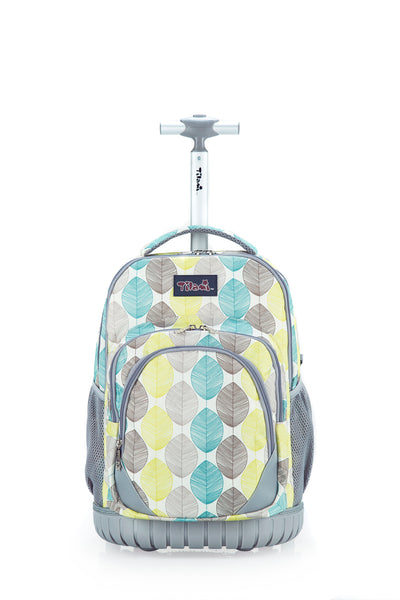 Tilami 18 Inch Wheeled Rolling Backpack Luggage and Lunch Bag Set Leaves - Tilamibag