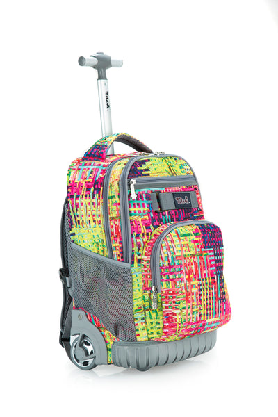 Tilami Weave Wheeled Rolling Backpack Rolling Backpack 18 Inch For School and Travel - Tilamibag