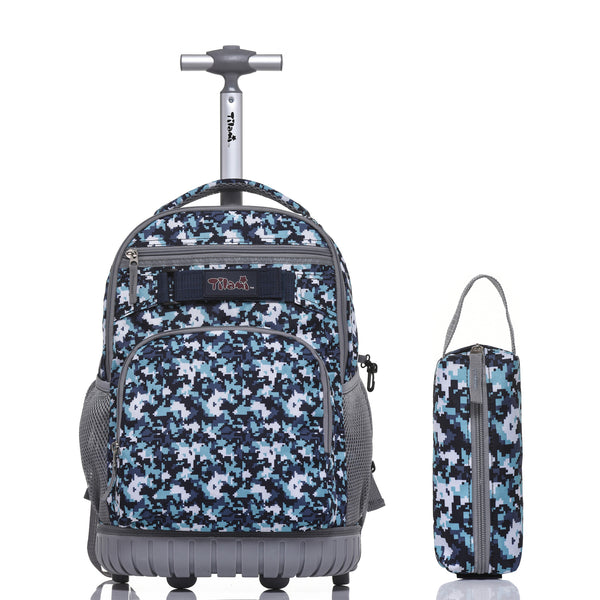 Tilami Rolling Backpack 18 Inch for School Travel with Pencil Case - Tilamibag