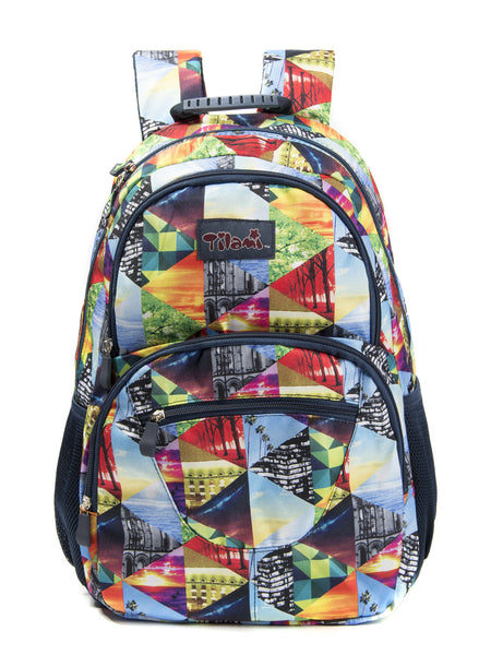 Tilami Backpack Laptop Bag 14 Inch School Bag Children Bookbags Laptop Bag,Ice black world - Tilamibag