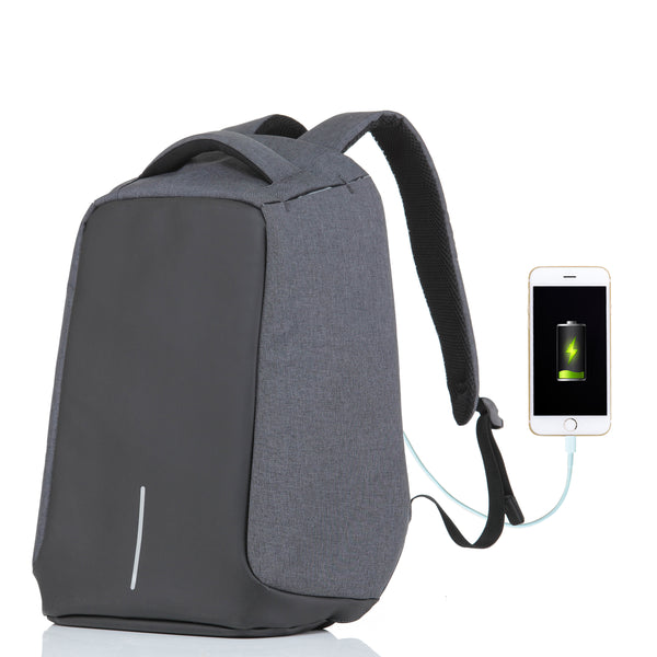 Tilami Backpack With USB Charge Port, Concealed Zippers And Larger Volume Capacity,  Classical Waterproof for School / Travel (Dark Grey) - Tilamibag