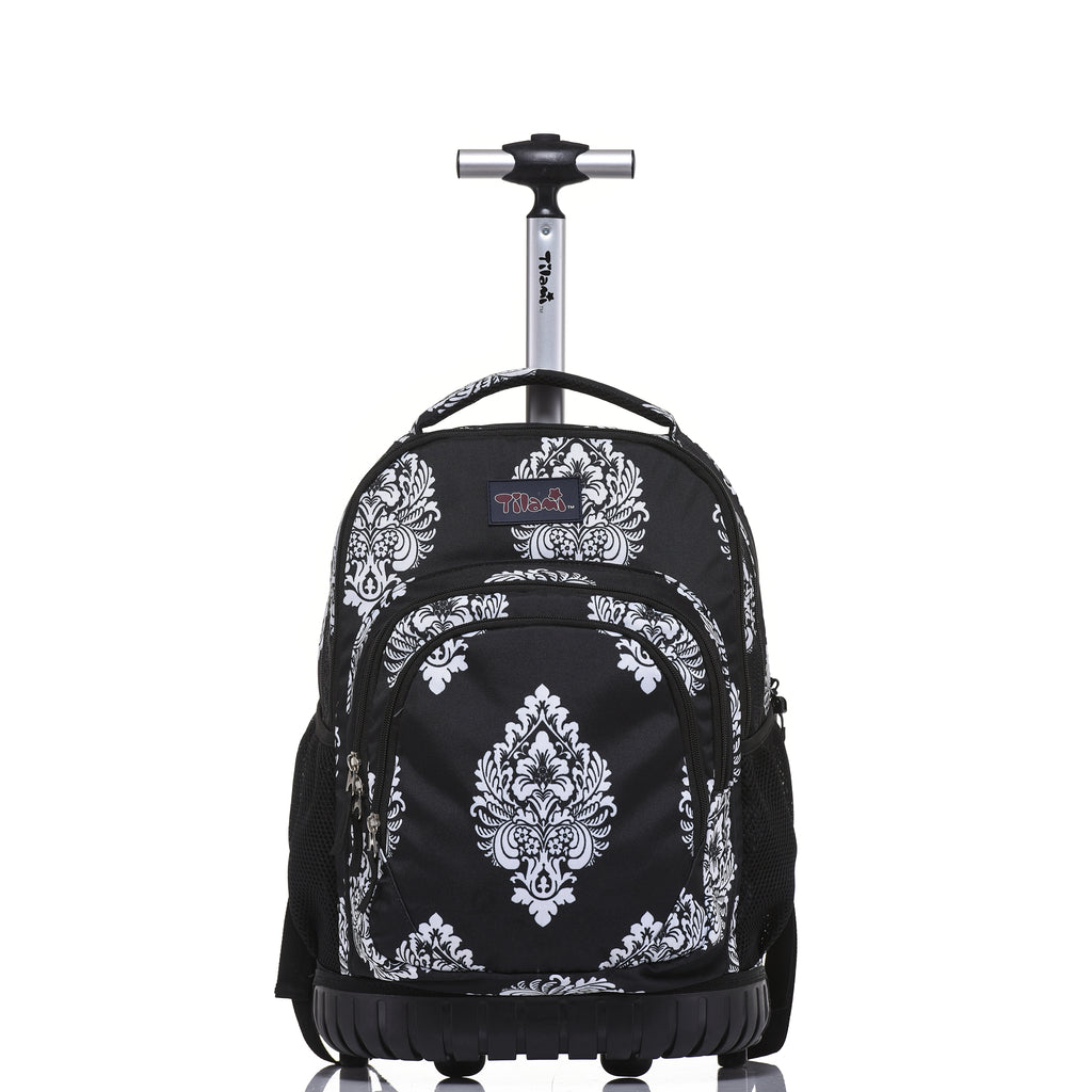 3fa3a3bdfc57 Rolling Boy Rolling Backpack For School   Travel Wheeled Backpack -  Tilamibag