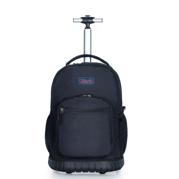 Tilami Black 18 Inch Rolling Backpack 18 Inch for School Travel Black - Tilamibag