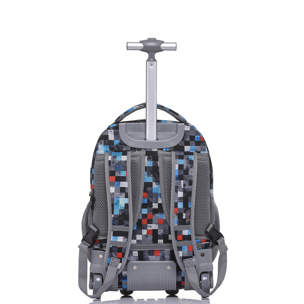 Rolling 18 Inch Boy Multifunction Wheeled Backpack - Tilamibag