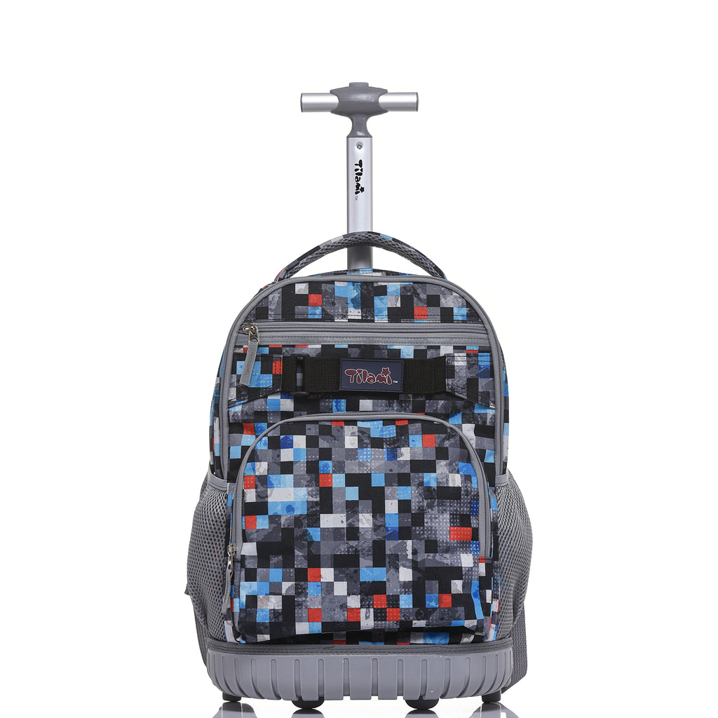 Rolling 18 Inch Boy Personalized Multifunction Wheeled Backpack – Tilamibag 09b3a56439b9f