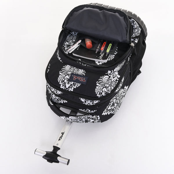 Rolling Boy Rolling Backpack For School & Travel Wheeled Backpack - Tilamibag