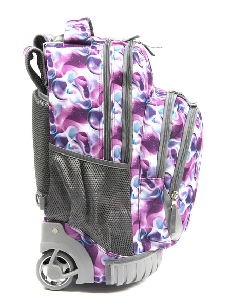 Tilami18 Inch Wheeled Rolling Backpack Luggage& Lunch Bag Set Purple Daffodils - Tilamibag