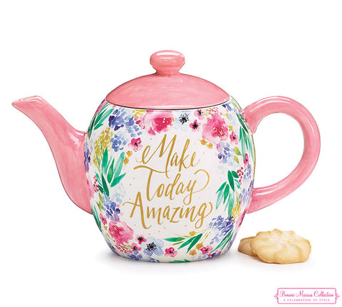 Make Today Amazing Ceramic Teapot, [Premier Gifts and Balloons], Drinkware, Premier Gifts 'n Balloons