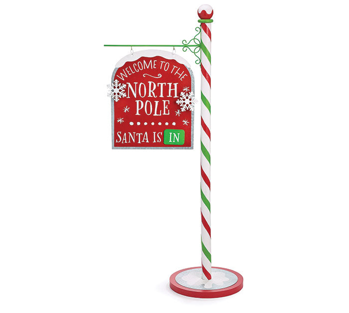 Welcome North Pole Sign Decor