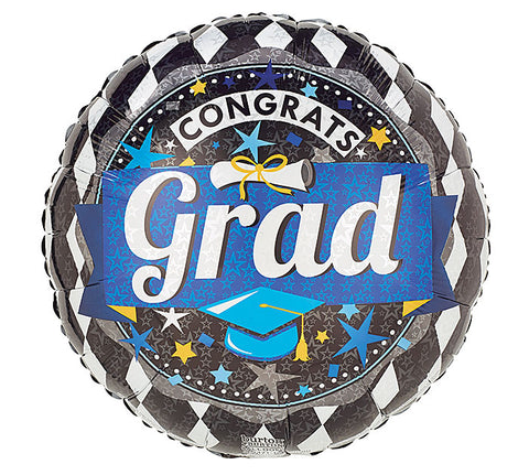 "17"" Blue Grad Foil Balloon, [Premier Gifts and Balloons], Balloons, Premier Gifts 'n Balloons"