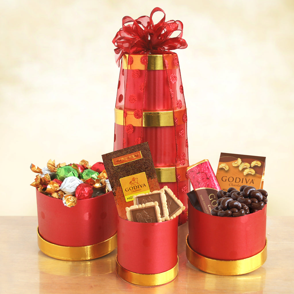 Godiva Winter Treats Tower