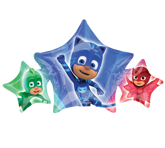"17"" Pkg Mini PJ Masks Balloon, [Premier Gifts and Balloons], Balloons, Premier Gifts 'n Balloons"
