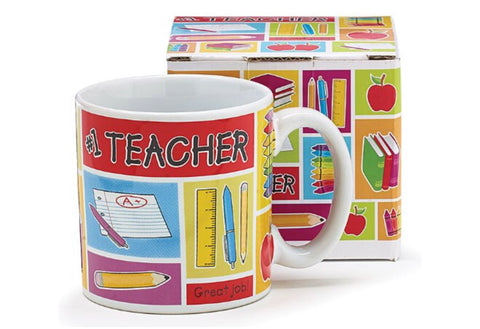 #1 Teacher Mug, [Premier Gifts and Balloons], Drinkware, Premier Gifts 'n Balloons