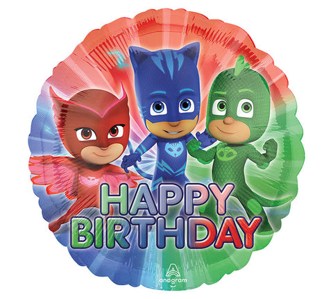 "17"" Pkg HBD PJ Masks Balloon"