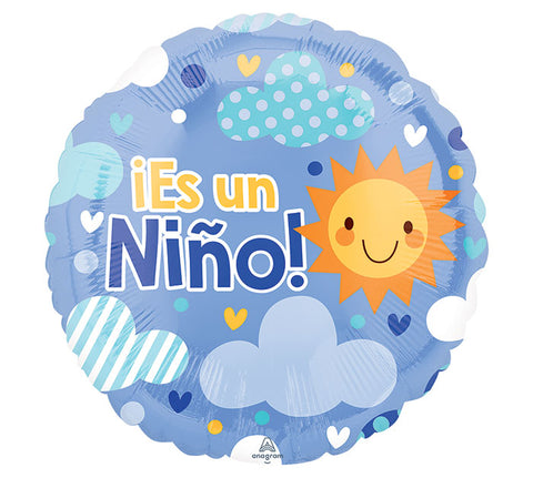 "18"" Spanish Es Un Nino Baby Boy Balloon"