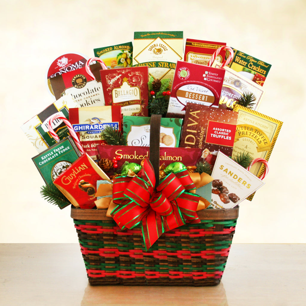 Season's Greetings Gourmet Deluxe Basket