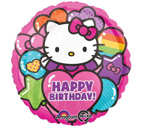 "17"" Pkg HBD Hello Kitty Foil Balloon"