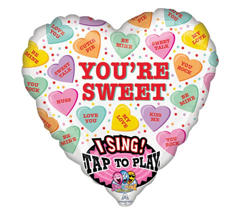 "29"" Valentine's Candy Sing A Tune Balloon"