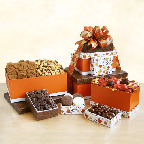 Wonderful Fall Sweets Tower, [Premier Gifts and Balloons], Gift Basket, Premier Gifts 'n Balloons