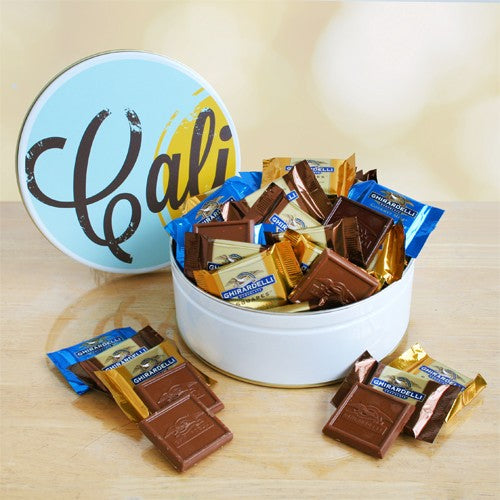 California Delicious Signature Ghirardelli Tin Gift, [Premier Gifts and Balloons], Gift Basket, Premier Gifts 'n Balloons