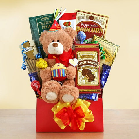Beary Happy Birthday, [Premier Gifts and Balloons], Gift Basket, Premier Gifts 'n Balloons